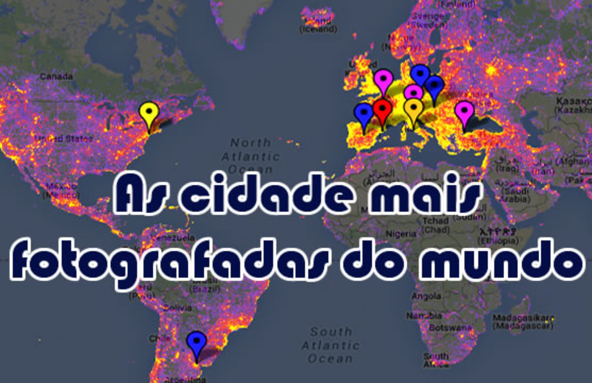 As cidades mais fotografadas do mundo – sightsmap.com